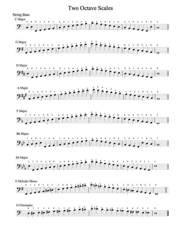Bass - 2 octaves