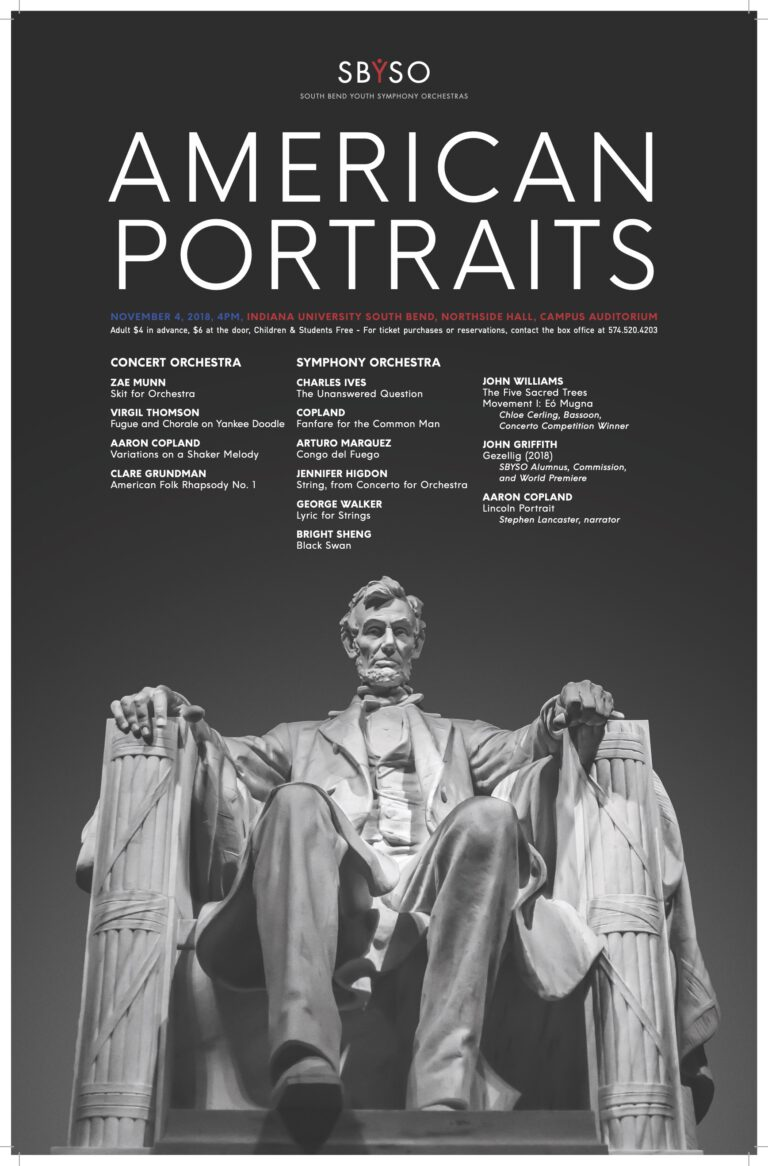 SBYSO-American Portraits Poster