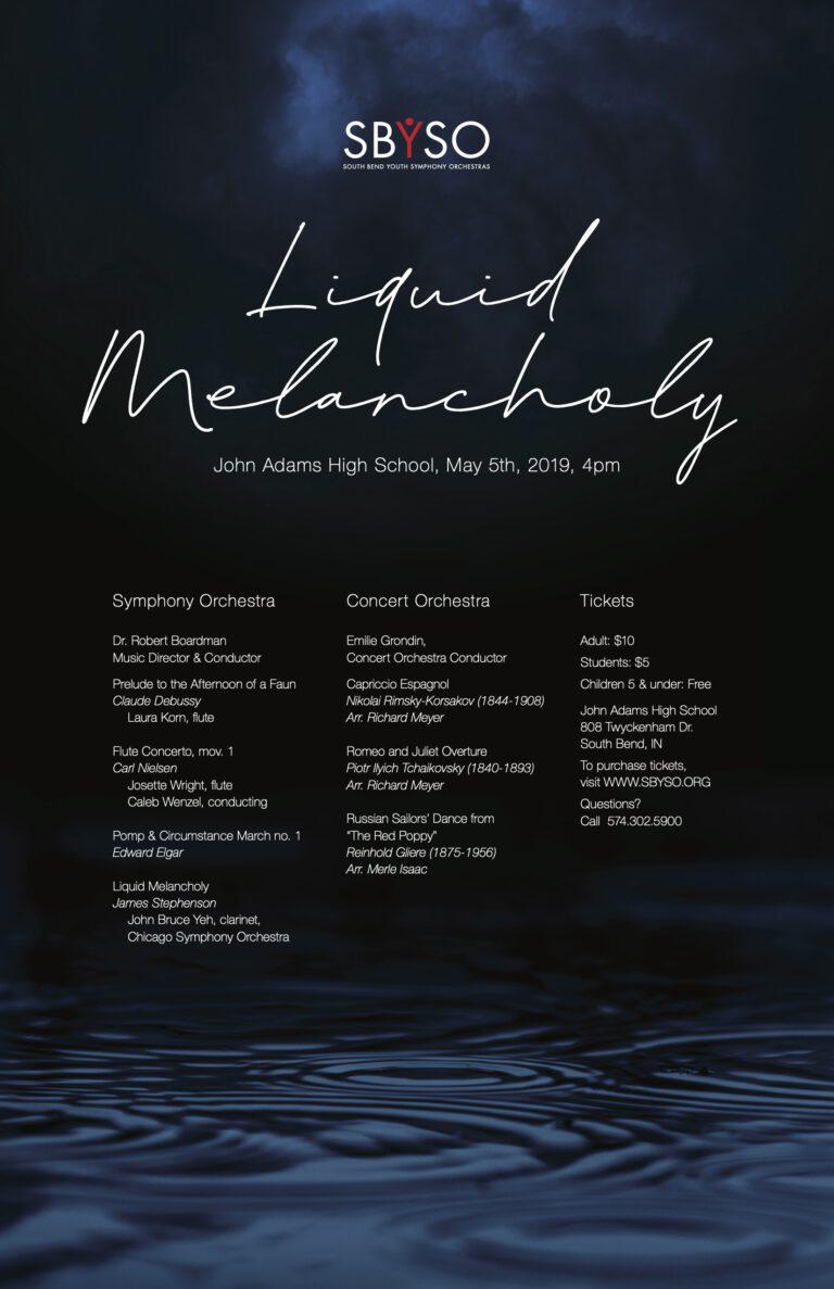 SBYSO Liquid Melancholy Poster