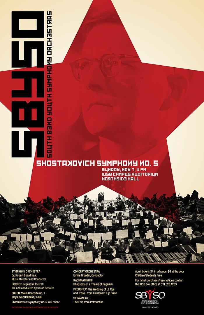 SBYSO Shostakovich Poster