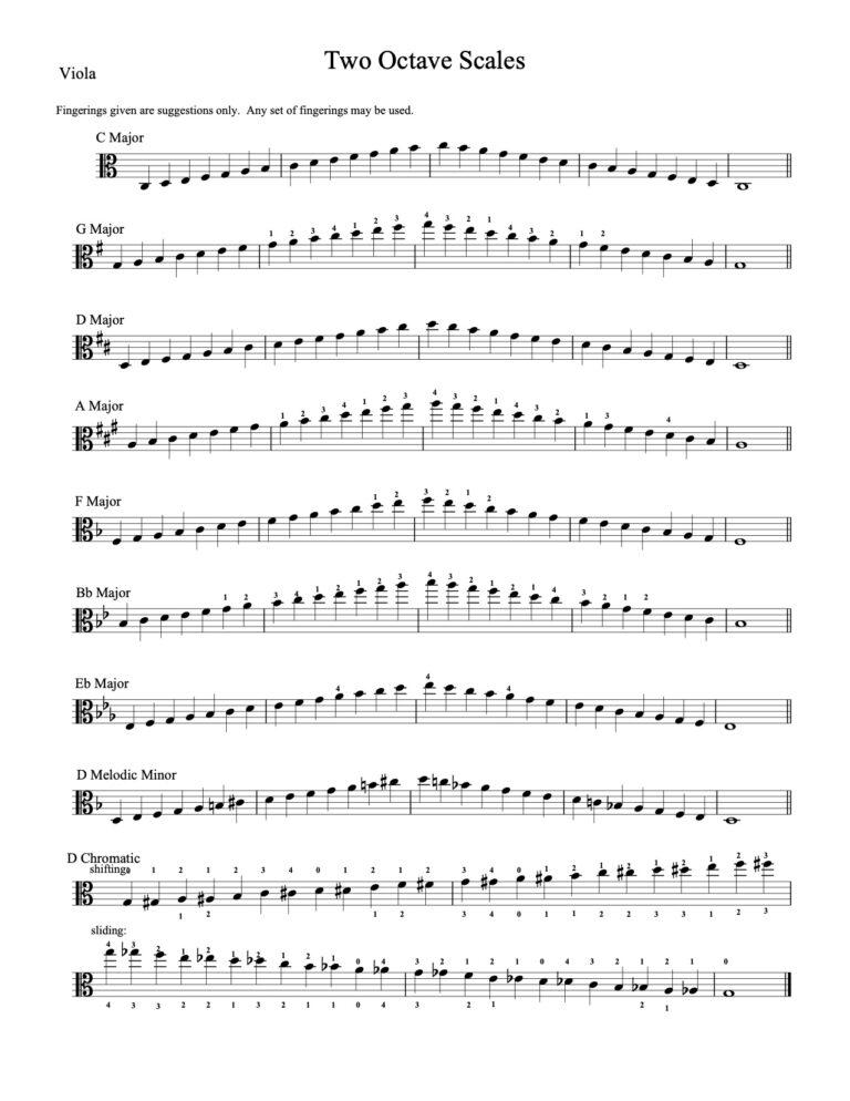 Viola - 2 octaves