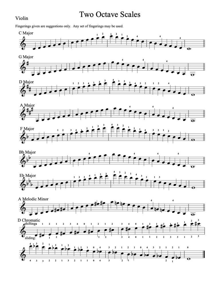 Violin - 2 octaves